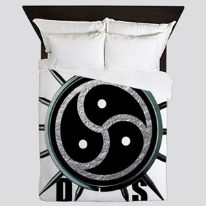 Spiked Collar BDSM Symbol Queen Duvet